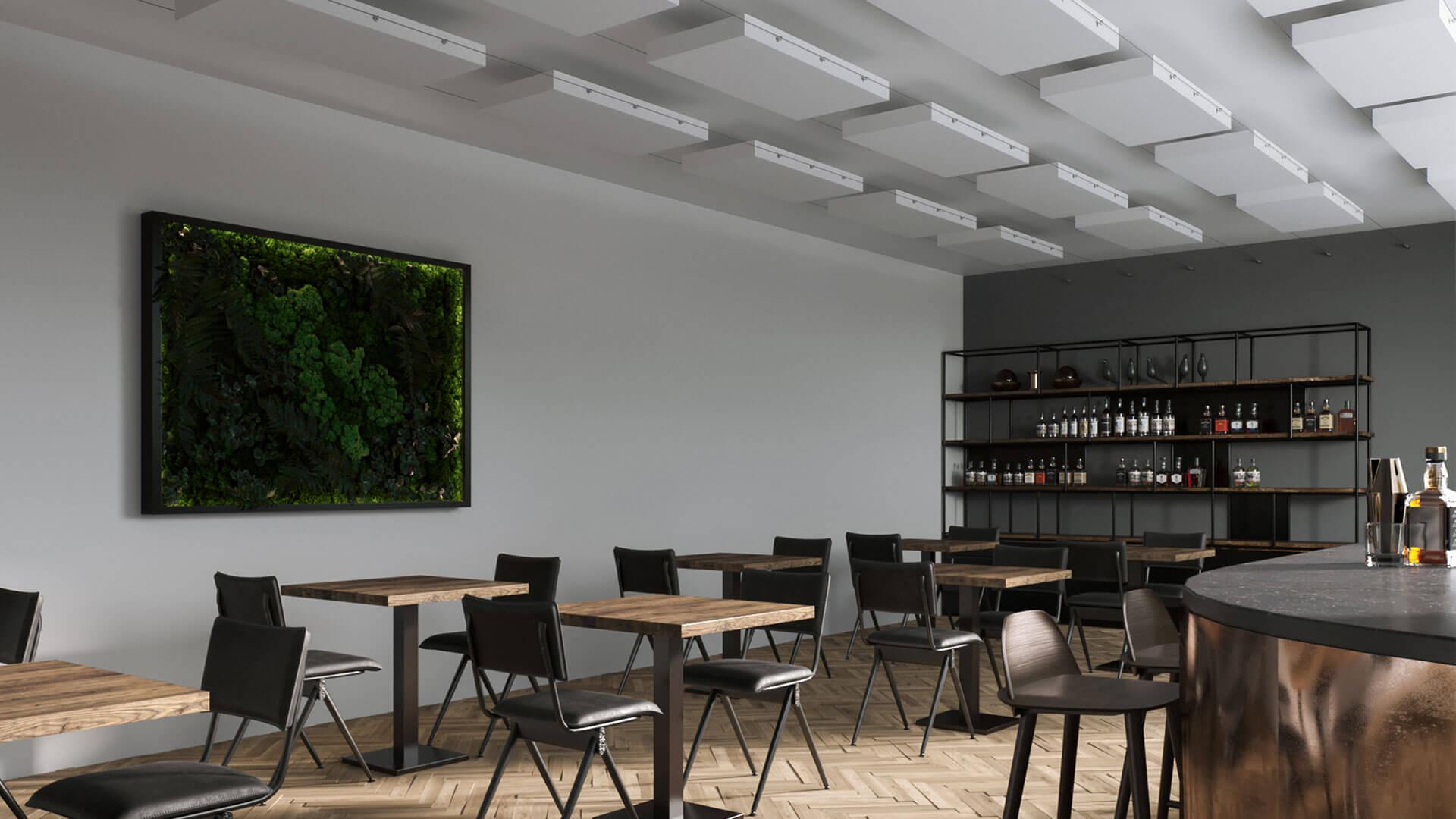 Les plafonds suspendus aixFOAM pour l'isolation acoustique