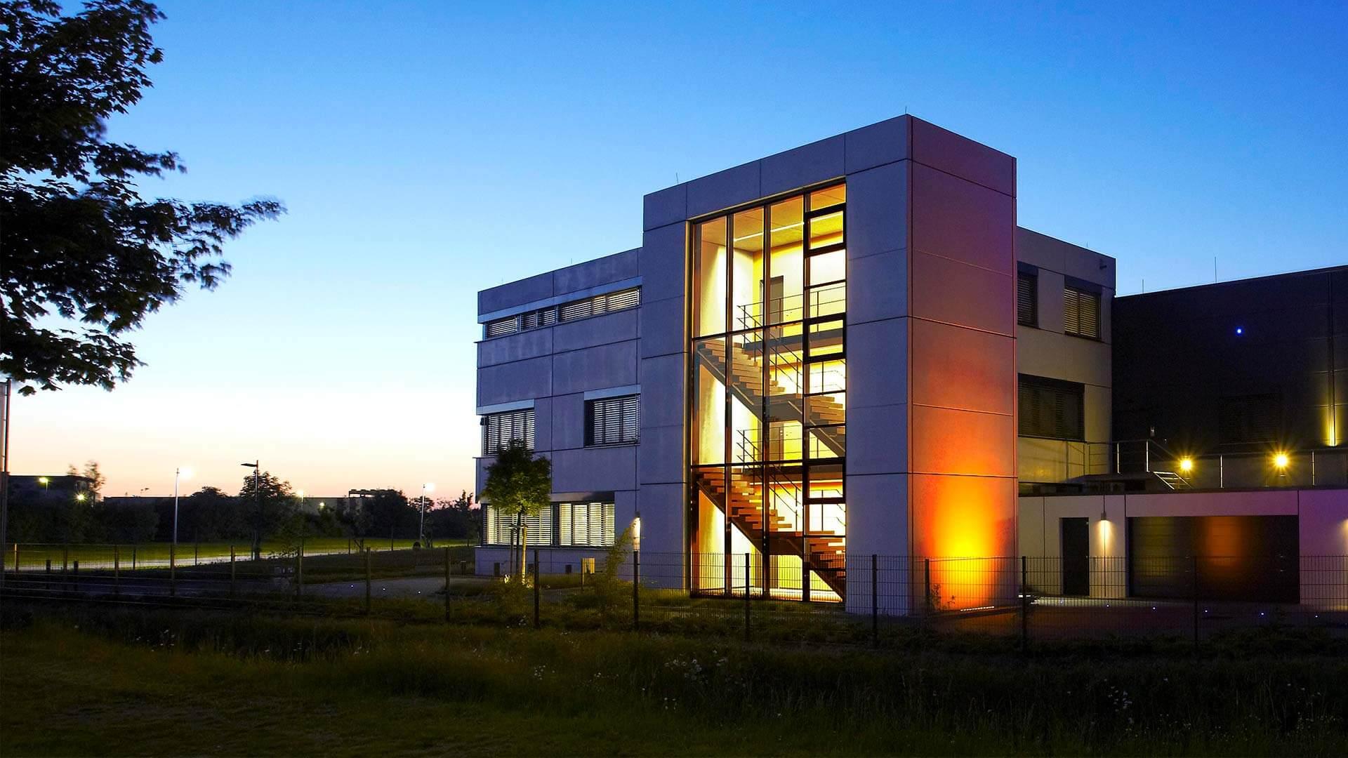 aixFOAM isolation acoustique - Le bâtiment de l'entreprise dans lequel sont fabriqués les absorbeurs de sons