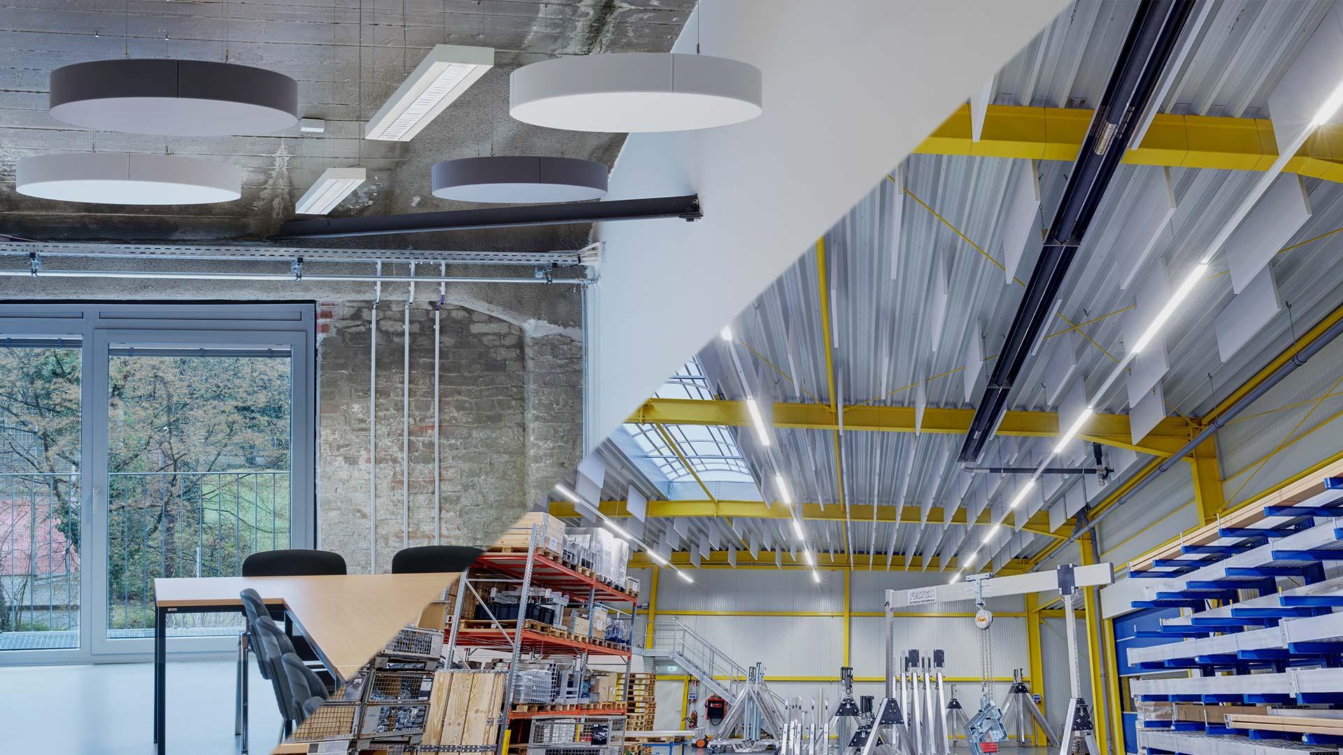 aixFOAM Absorbeurs de son Premium dans les bureaux et les halls industriels