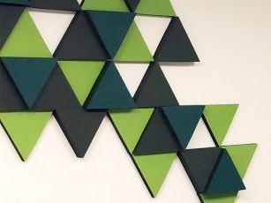 Absorbeur de bruit à surface en feutre en triangle