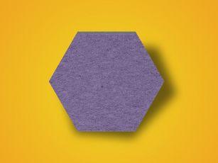 Absorbeur de bruit à surface en feutre en hexagone