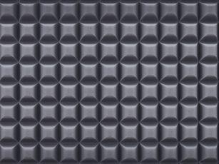 Mousse acoustique duromère spéciale à profil trapézoïdal