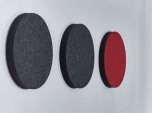 Absorbeur de bruit à surface en feutre - cercle/ellipse